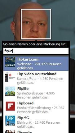 Foto-Tagging - alle Seitenkategorien stehen zur Verfügung....