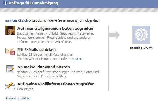 App-Autorisierung via Sanitas-25.ch