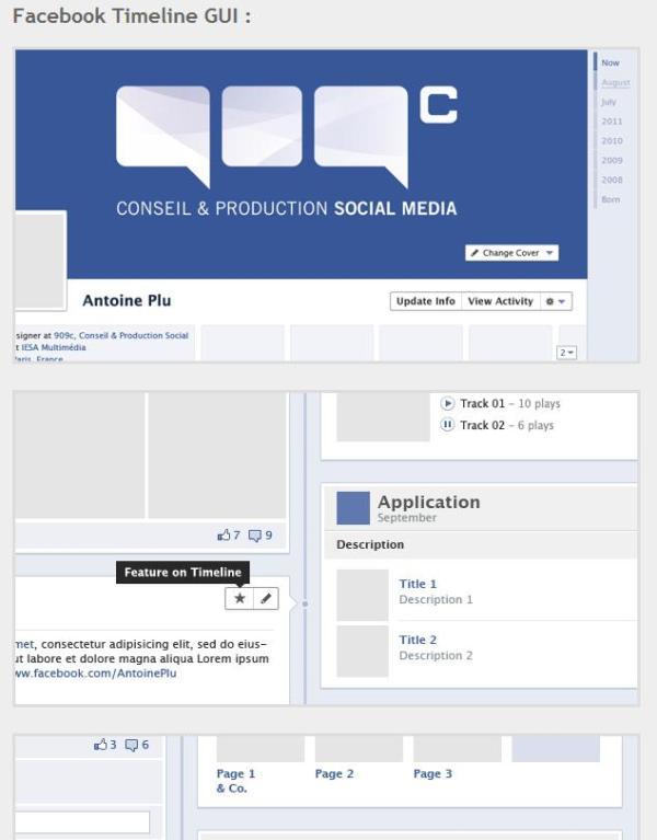 Facebook Timeline GUI