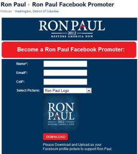 Ron Paul Facebook Promoter