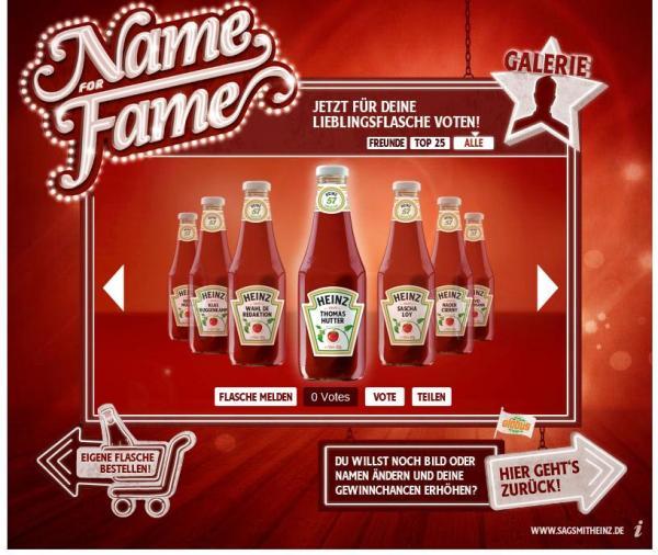 Name for Fame von Heinz