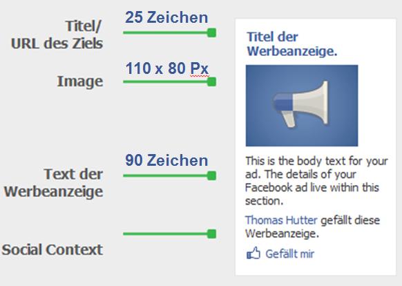 Aufbau von Facebook Standard Werbeanzeigen