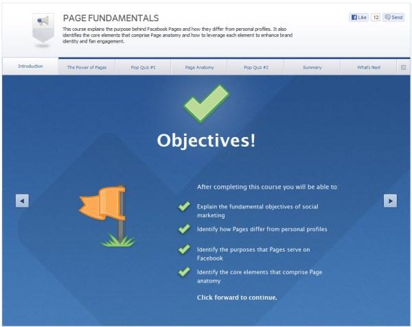 Page Fundamentals - Ziele