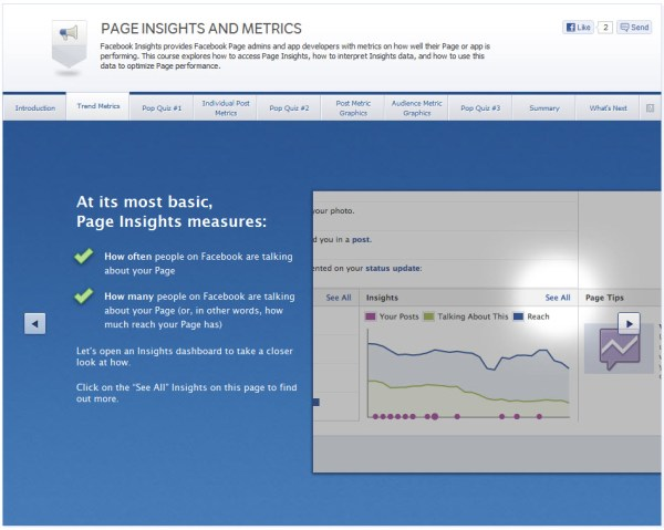Page Insights and Metrics - Trend Metrics