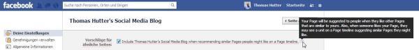 """Vorschlagsbox """"Seiten, die Dir gefallen könnten"""" deaktivieren"""