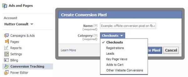 Conversion Tracking im Werbeanzeigenmanager