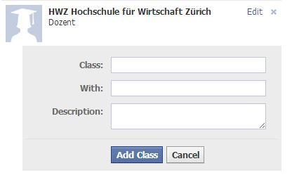 Informationen zur Schulausbildung im Facebook Profil