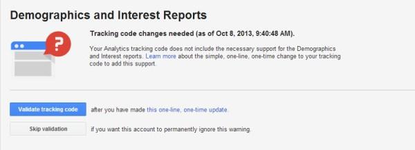 DoubleClick Tracking-Code Bestätigung
