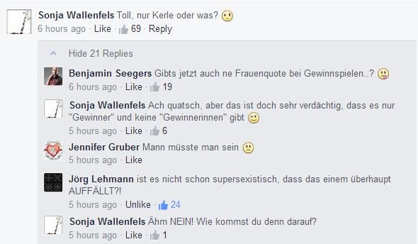 Reaktionen auf den Beitrag bei amazon.de