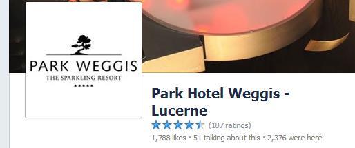 Rezensionen beim Park Hotel Weggis auf Facebook