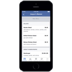 Menüs auf Facebook Seiten für Restaurants anzeigen (Quelle: Facebook)