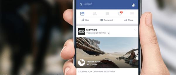 360 Video im News Feed (Quelle: Facebook)