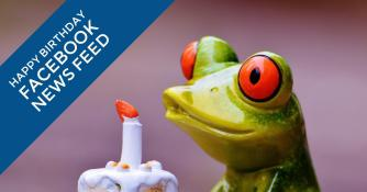 Happy Birthday Facebook News Feed