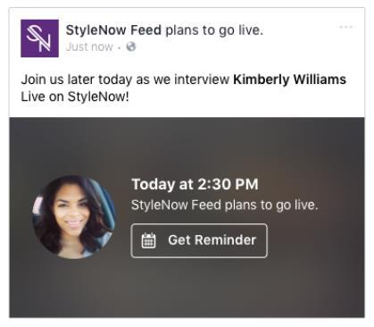 Vorschau auf geplante Live-Videos (Quelle: Facebook)