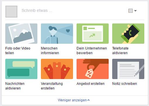 Neuer Publisher bei Facebook