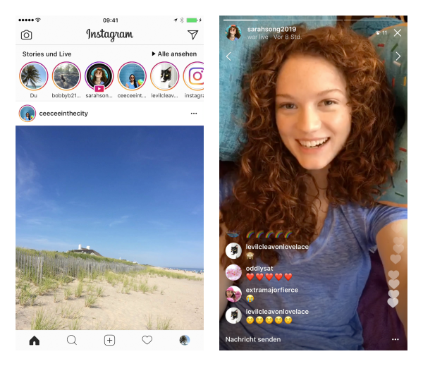 Instagram Live in Stories (Quelle: Instagram)
