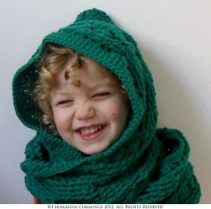 Crochet Hooded Scarf Scoodie