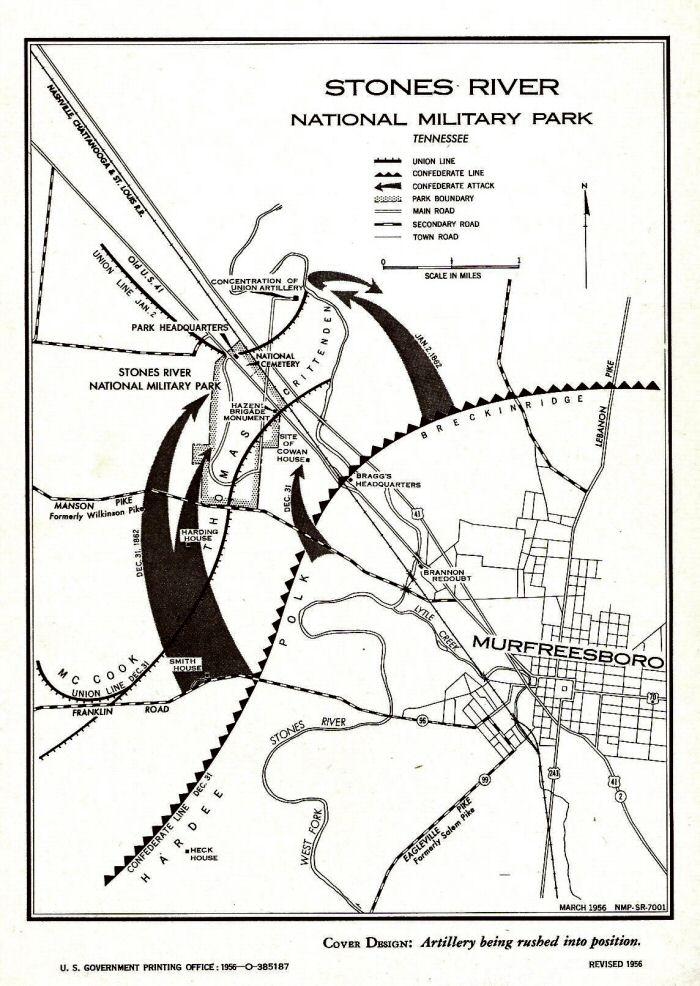 Battle of Stones River, Civil War Battle of Stones River Map