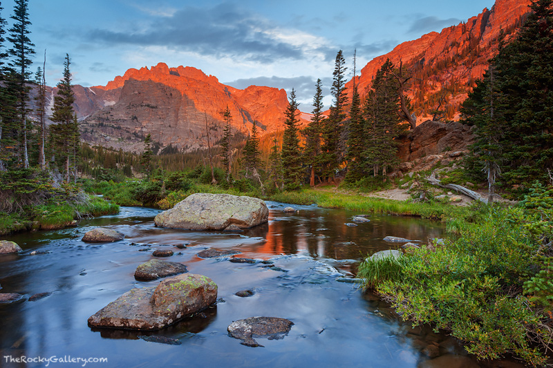Wallpaper Fall River Ma Sunrise On Loch Vale Rocky Mountain National Park