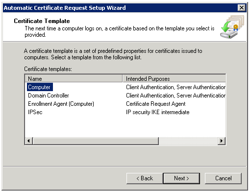 Directaccess for smb and lab environments design step by step now run the automatic certificate request wizard yadclub Gallery