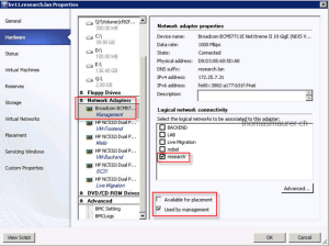 System Center 2012 – Virtual Machine Manager Network