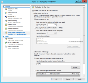 Enable Hyper-V Replica
