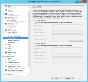 Hyper-V Replica inject Failover IP Address