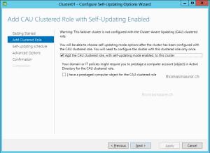 Cluster-Aware Updating self-updating