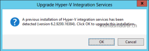 Hyper-V Integration Services Upgrade