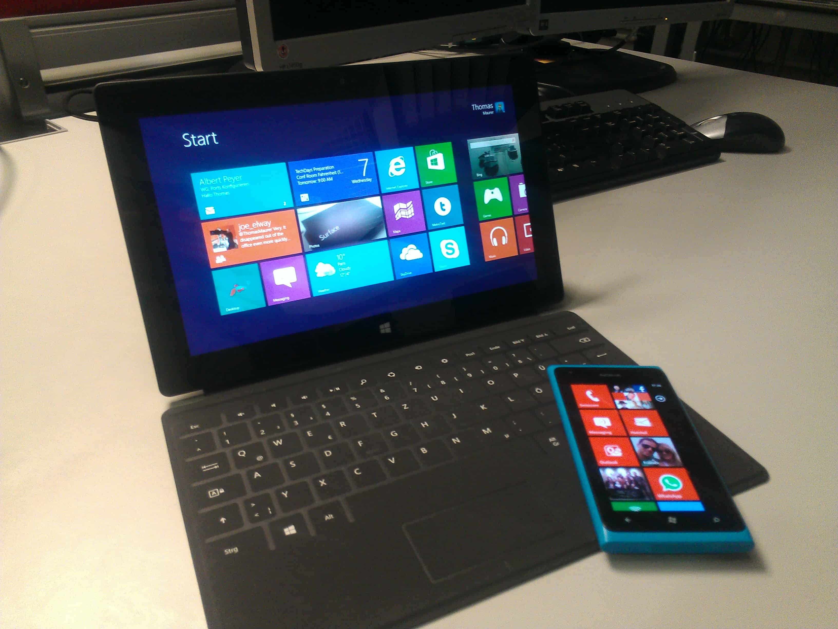 first week with the microsoft surface thomas maurer. Black Bedroom Furniture Sets. Home Design Ideas
