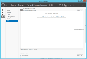 iSCSI Virtual Disk Server Manager
