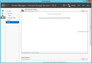 iSCSI Virtual Disk Server Manager