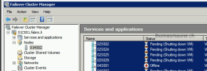 Failover Cluster Migration shutdown VMS