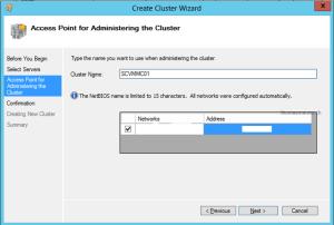 Create SCVMM Cluster