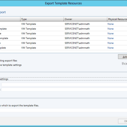 Export Templates from Virtual Machine Manager Settings