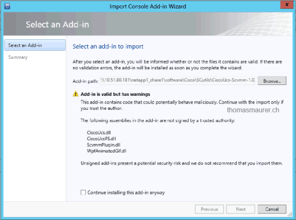 Import SCVMM Add-in