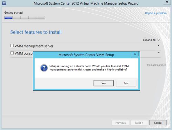 Install SCVMM HA Cluster