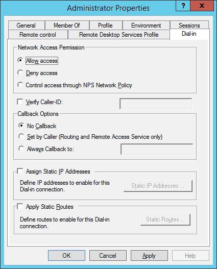 Allow Remote VPN Access for User