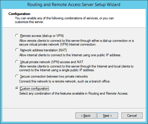 Custom VPN Configuration