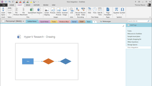 OneNote Visio Integration