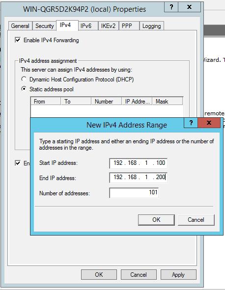 static address pool