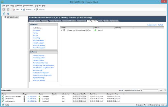 VMware ESXi 6.0 Configuration