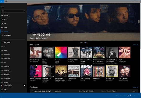 Xbox Music Universal App 2
