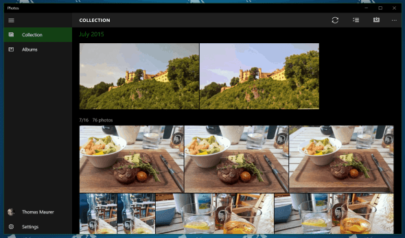Windows 10 Photos App