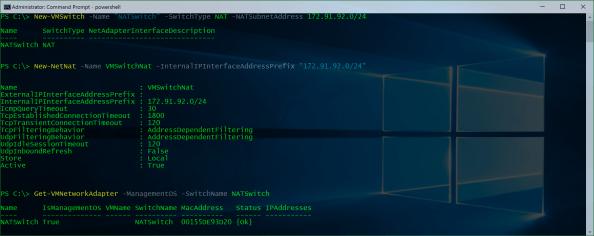 Create NAT Virtual Switch on Hyper-V