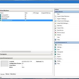 Hyper-V Manager Windows 10 Build 14361