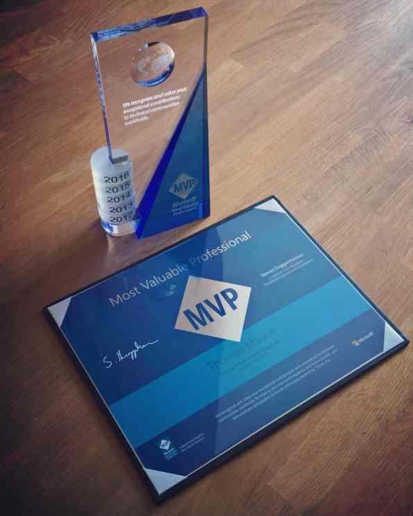 Microsoft MVP Award 2016