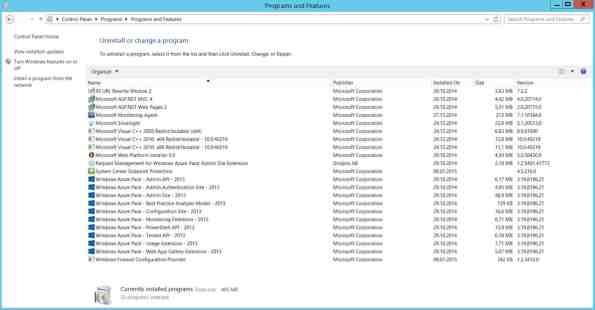 Windows Azure Pack Version