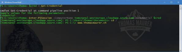Nano Server PowerShell Remoting Azure VM