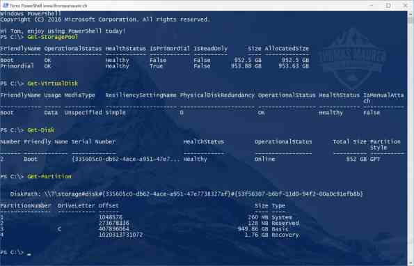 Surface Pro PowerShell Storage Spaces Boot